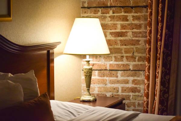 Add a bedside lamp