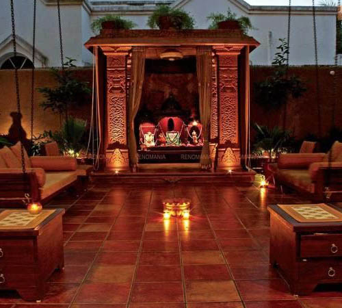 Puja room in outdoor spaces