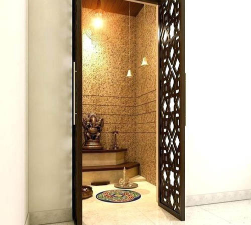 Puja unit with an Eye-Catching Door