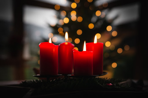 Place fragrant candles all over your home