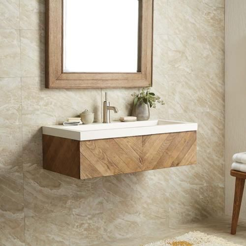 Floating and Open Vanity