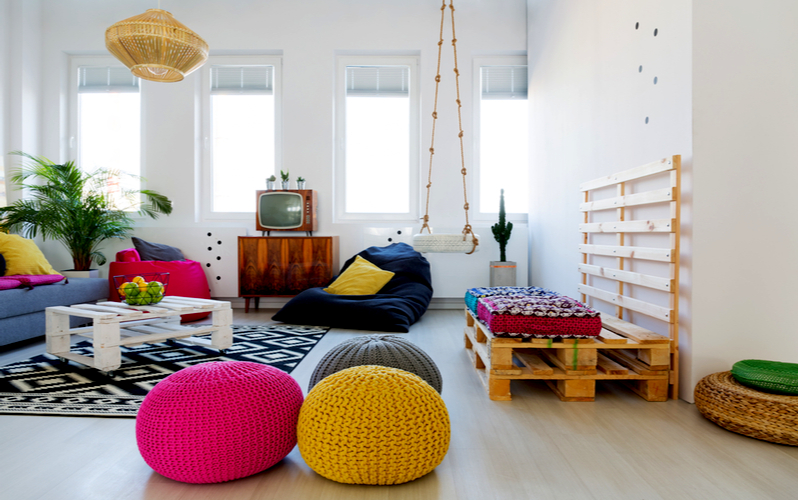 Add Swing & Rug to your living room