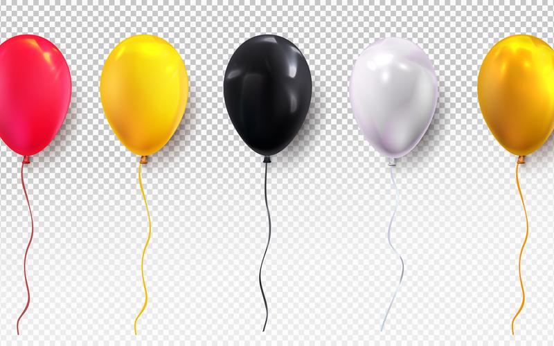 Ribbons and balloons