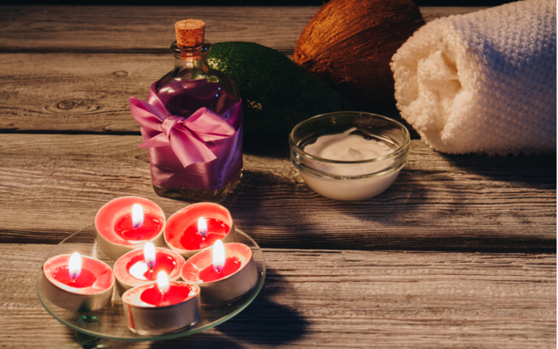 Sweet smelling fruit candles