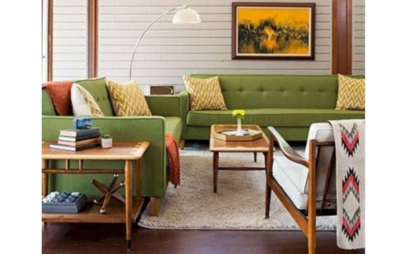 Rust and Green Ash Living Room