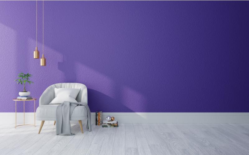 Purple and Grey Living Room