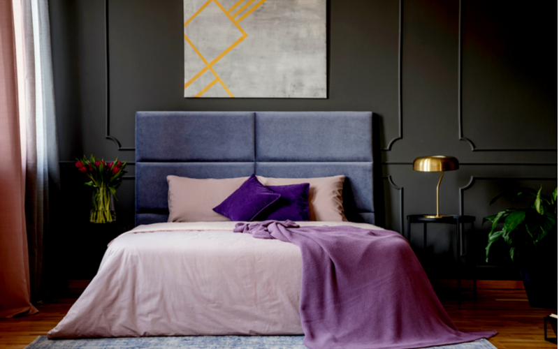 Boysenberry and Indigo Bedroom Color