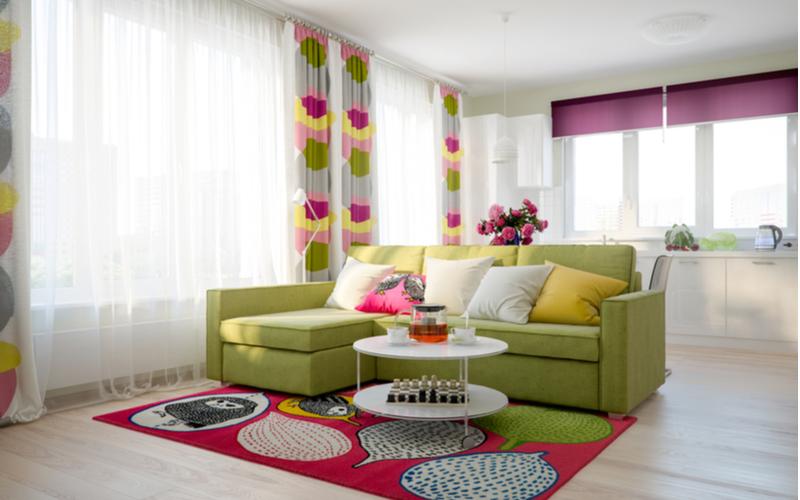 Rose and Fuchsia Living Room