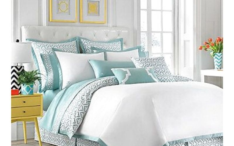 Slate and Mint Bedroom Color