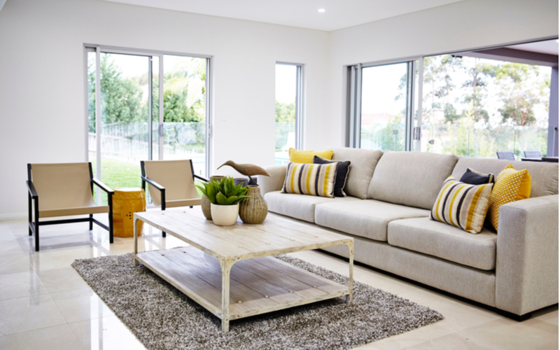 Yellow and Neutrals Living Room