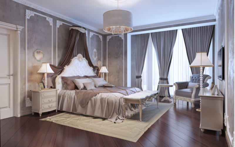 Grays with Peanut Brown Bedroom Color