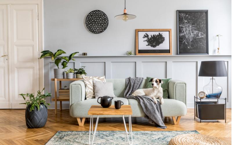 Grey on Grey Living Room