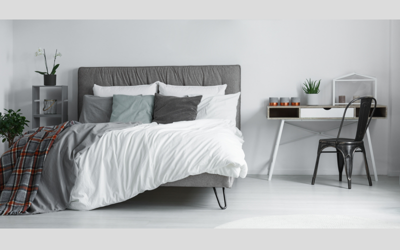 Black and White Bedroom Color