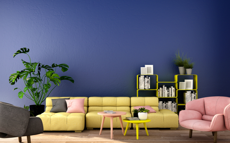 Taxicab Yellow and Pastels Living Room