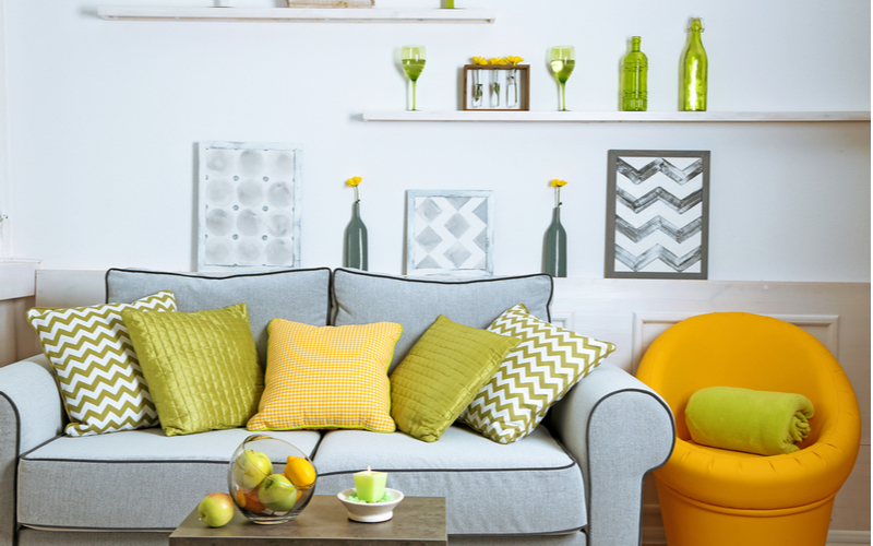 Juicy Apricots and Kiwi Living Room