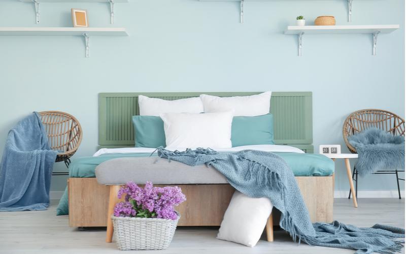Pretty Blues And Sea Green Bedroom Color