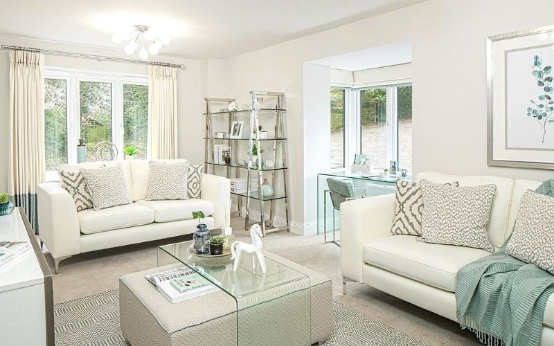 Mint and Cream Living Room