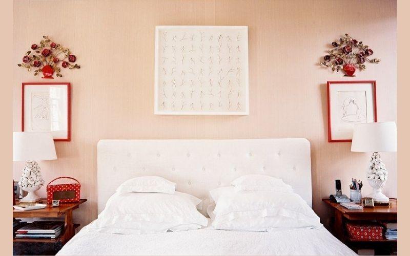 Cherry and Blush Bedroom Interior