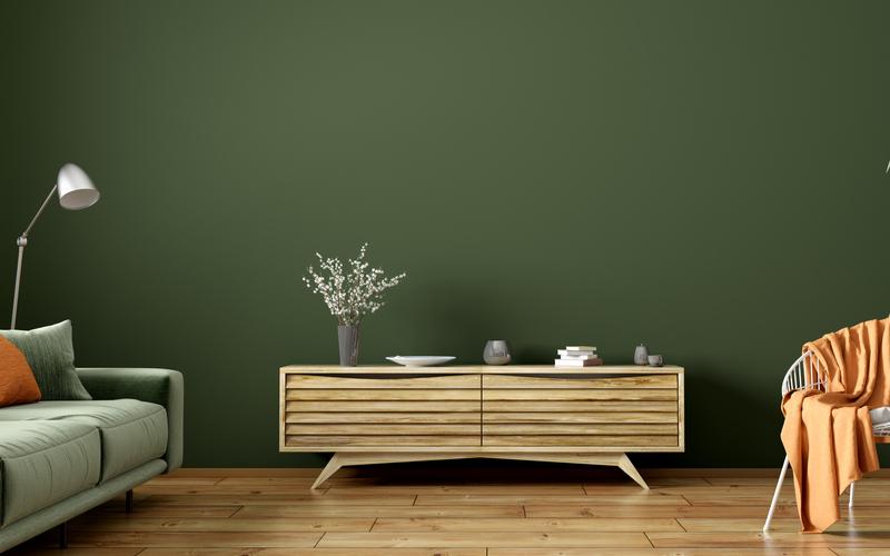 Pewter Green Living Room