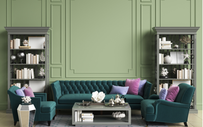 Contented Green Living Room
