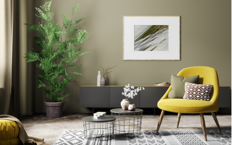 Koi Pond Green Living Room
