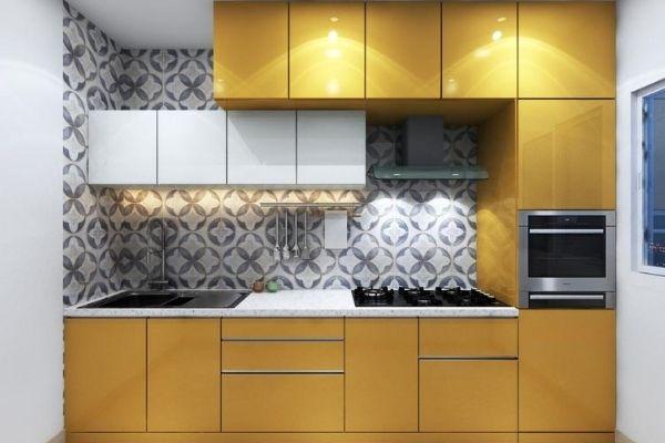 straight modular kitchen design