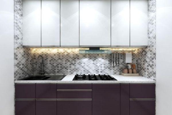 straight kitchen interior design with price