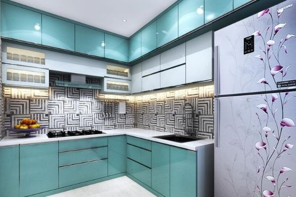 l shaped modular kitchen per square feet rate