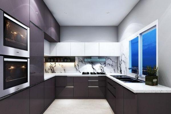 u shaped modular kitchen per square feet rate