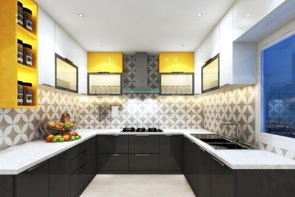 u shaped kitchen interior design with price