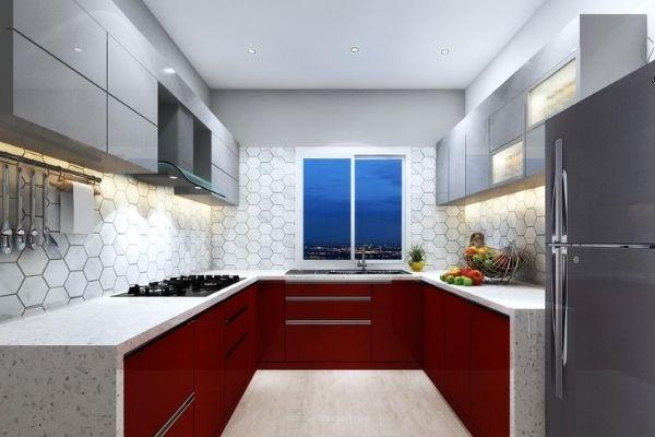 u shaped modular kitchen catalog with price