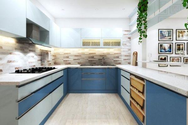 u shaped modular kitchen price