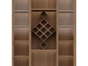 Display Cabinet – Walnut Finish - In Kolkata