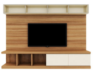 TV Cabinet With Storage – Natural & Off-White Finish - In Kolkata