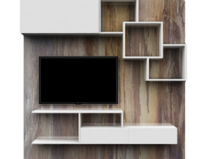 TV Cabinet With Storage– Oak & White Finish In Kolkata