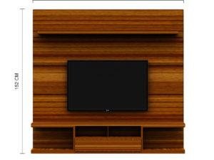 TV Unit With Storage – Rustic Cinnamon Finish in kolkata