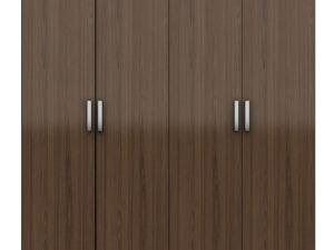 Wardrobe With 4 Swing Doors – Smoked Walnut Finish - In Kolkata