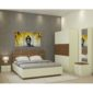 Callum XL Room Package in Ivory White And Jungle Wood Finish